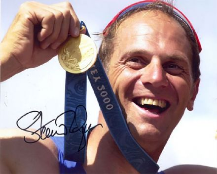Sir Steve Redgrave, signed 10x8 inch photo.(3)